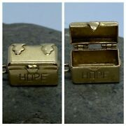 Vintage 14k Yellow Gold Opening Hope Chest Charm