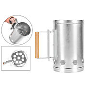 Barbecue Charcoal Chimney Starter Grill Rapid Quick Fire Lighter Can Picnic