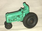 Auburn Rubber Tractor Vintage Toy Teal Blue Green