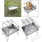 Bbq Grill Portable Charcoal Pit Stove Kabob Picnic Garden Outdoor Cooker