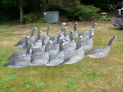 17 Vintage Carry-lite Milwaukee Wisc. Folding/stick Up Goose Decoys Stakes