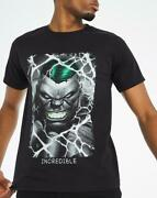 Incredible Hulk T-shirt Officially Licensed Marvel Comics Jersey Black Size 4xl