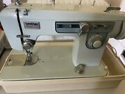 Brother Charger 651 Vintage Heavy Duty Sewing Machine Blue Tested Working