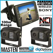 2.4ghz Hd Wireless 5monitor 2 Ccd Camera Reversing Rear View Kit For Car Truck