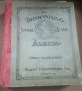 1947 International Postage Stamp Album Lots Of Stamps Serious Collectors