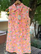 Vintage 1960s New Nymphorm Novelty Print Playsuit Romper Bees Tulips Hearts S/m