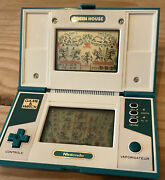 Nintendo Lcd Game And Watch Multi Screen Green House 1982 Gh-54 Excellent French V
