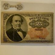 Fractional Currency Fr-1308 25c Firm Toned On Sale O4