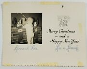 Real Photo Christmas Card Baby Leonard Lee With Decorations R13