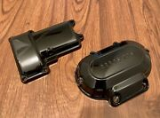 Set Of Harley-davidson 6-speed Transmission Covers Top And Side Gloss Black