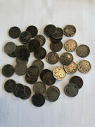 Roll Of Buffalo Nickels 40 Coins Worn And Various Condition. Most Readable Dates