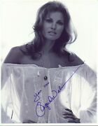Very Sexy Actress Raquel Welch Autographed Photo Hand Signed