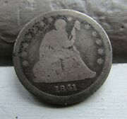 Rare 1841- O Seated Liberty Quarter 25c-------key Date------only 452k Minted