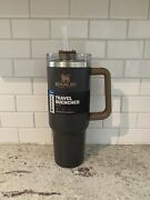 Stanley Adventure Quencher Travel Tumbler Straw Cup 40 Oz Coal Brand New