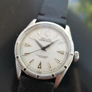 Mens Rolex Oyster Perpetual 6303 34mm 1950s Automatic Vintage Dress Watch Ma176