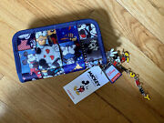 Harveys Seatbelt Bags Mickey And Friends Disney Patchwork Classic Wallet New