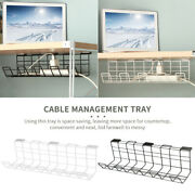 Under Desk Wire Organizer With Screws Cable Management Tray
