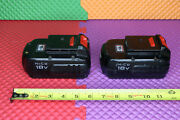 Oem Porter Cable Nicd 18v Pc18b Cordless Battery Lot Of 2