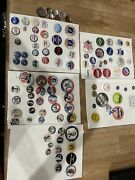 Lot Of 89 Campaig Pin Buttons Repo And Originals Kennedy Nixon Rooselvet Ike Taf