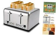 Toaster 4 Slice Toaster Bread Toasters 4 Extra Wide Slot Stainless Steel