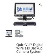 """Quickvu Digital Wireless Backup Camera System 7"""" Color Minitor, Two Cameras"""