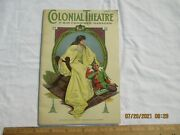1916 Vintage Cleveland Ohioand039s Colonial Theatre Show Book Art Deco Cover.
