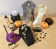 Vintage And New Halloween Lot - Wilton Ghost, Tombstone, Jack-o-lanterns And More