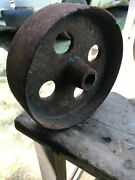 Cast Iron Wheel Tractor Cart Antique Industrial Steampunk 4 Hole 5 1/8d 1 5/8w