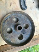 Cast Iron Wheel Tractor Cart Antique Industrial Steampunk 4 Hole 5 1/2d 1 5/8w