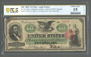 1863 10 Us Note Fr.95c Chittenden Spinner Abnc And Nbnc Imprints Pcgs 15 - S602
