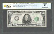 1934 500 Federal Reserve Note - Chicago Fr. 2201-g - Pcgs 30 Very Fine - S610