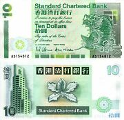 Hong Kong 10 Dollars Banknote World Paper Money Unc Currency Pick P284a 1993