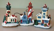 Hallmark Holiday Lighthouse Ornaments 2012, 2013 And 2014 1st, 2nd And 4th Nmib