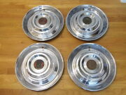 Set Of 1954 1955 Cadillac Coupe Deville 15 Inch Wheel Covers Hubcaps
