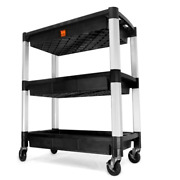 73163 Three-tray 300-pound Capacity Triple Decker Service And Utility Cart