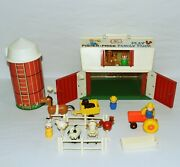 Vintage Fisher Price Little People Farm 915 Complete Silo Animals 🐖 🐄 🐓 0721