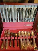 Service For 12 Antique Rogers Bros Silverplate Silverware Set 1847 Roger Bros...