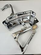 1962 Impala Triple Plated Chrome Hood Latch And Support