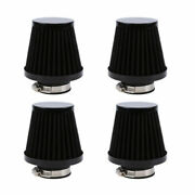 4x Motorcycle 54mm Air Filters Intake Cone Pod Cleaner Reusable Universal Fit