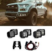 Rigid Industries D-series Pro 3 6x22w Combo Led Lights For 17-20 F-150 - 41610