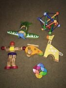 Lot Of 6 Educational Wooden Montessori Baby Toddler Toys