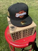 Hat Club Exclusive Size 7 3/8 Milwaukee Brewers Beer Pack 40th Annv Patch Red Uv