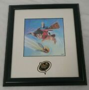 Rare Harry Potter And Flying Golden Snitch And Pin Print Lithograph 764/2500 And Coa
