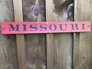 Missouri Antique Wood Sign Farm Country Roughly 30x4