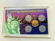 Liberty Head Collection Racketeer Nickle 1896 1905 1908 1909 1909