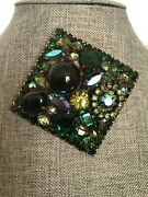 Vintage Large Signed Weiss Brooch/pendant - 1950andrsquos
