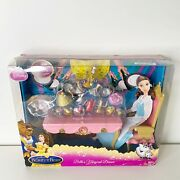 2009 Disney Beauty And The Beast Belle's Magical Dinner Figurines Table Chair