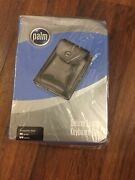 Palm Pda Deluxe Black Leather Keyboard Case For Palm Lll And Vll Series