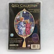 Dimensions Gold Collection Petites Watching For Santa Ornament Cross Stitch 8699