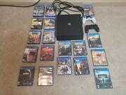 Sony Playstation 4 Pro 1tb Console - Black Bundle. 2 Ps4 Controllers + 18 Games